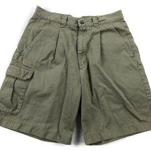 Nike Golf Mens 30 Beige Single Pleat Cargo Shorts